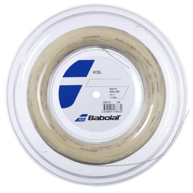 【送料無料】バボラ  テニスストリング  ナイロンマルチフィラメント Xcel(エクセル)125 ロール ゲージ:1.25mm カラー:ナチュラル 品番:243110