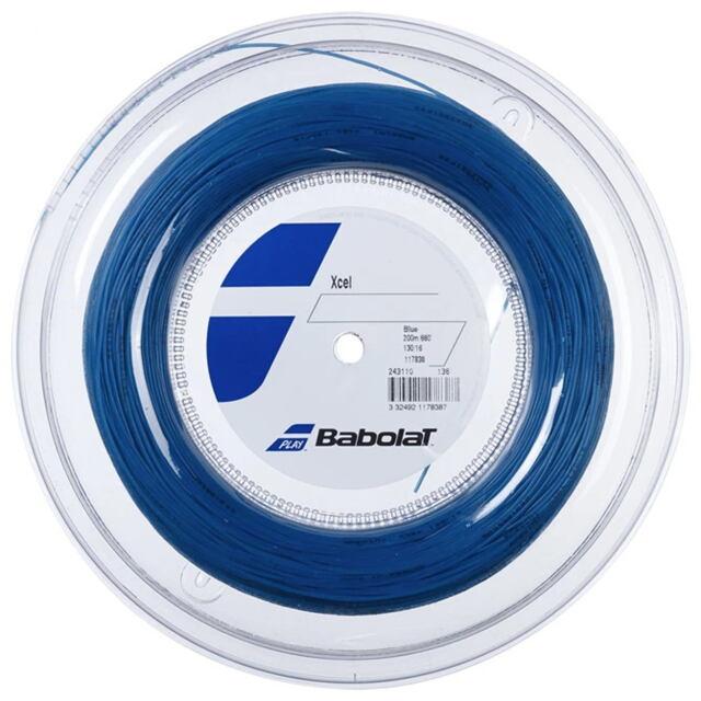 【送料無料】バボラ テニスストリング ナイロンマルチフィラメント Xcel(エクセル)130 ロール ゲージ:1.30mm カラー:ブルー 品番:243110
