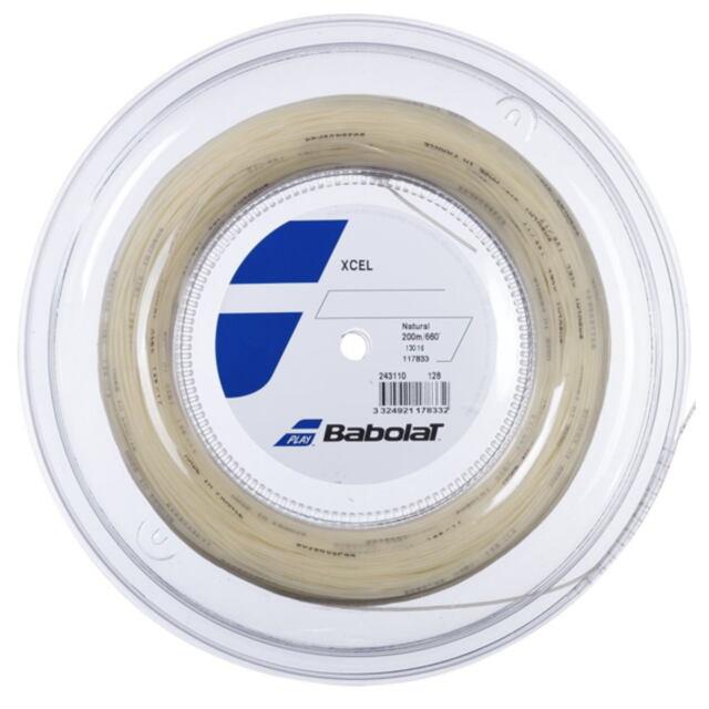 【送料無料】バボラ  テニスストリング  ナイロンマルチフィラメント Xcel(エクセル)130 ロール ゲージ:1.30mm カラー:ナチュラル 品番:243110