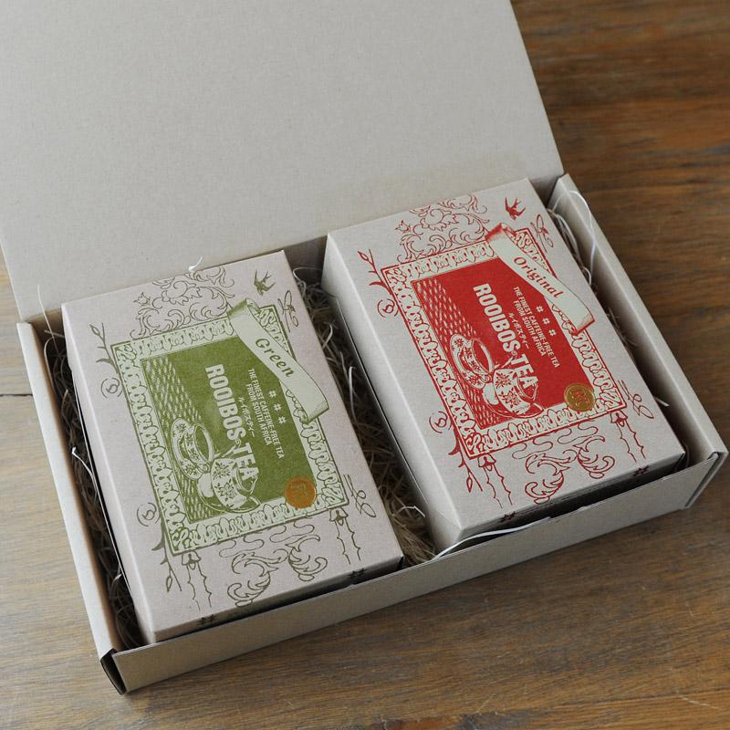 ギフト用:ルイボスティー・茶葉セット 【箱入りラッピング済】