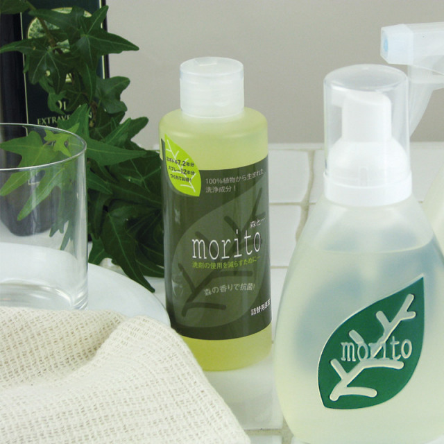 少量で汚れ落ち抜群!拭き取りタイプの食器洗い用洗剤 ≪森と・・・詰替え用≫