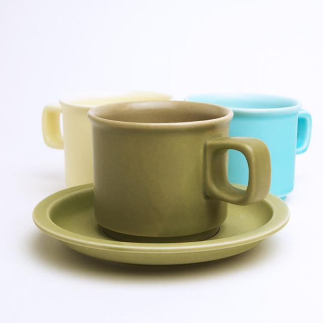 萬古焼カップ&ソーサー・全3色 [スティルク]