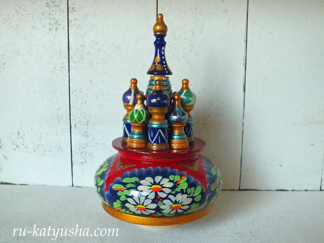 ロシア聖堂のオルゴール(カモミール)☆カチューシャ★ロシア雑貨