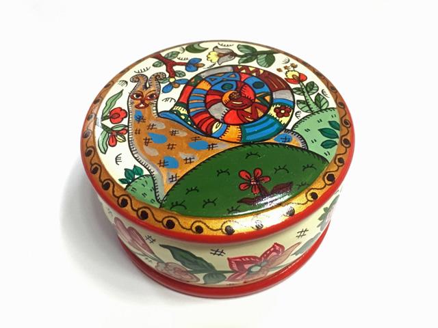 エカチェリーナ2世☆北方ドヴィナ塗りの小箱★ロシア雑貨