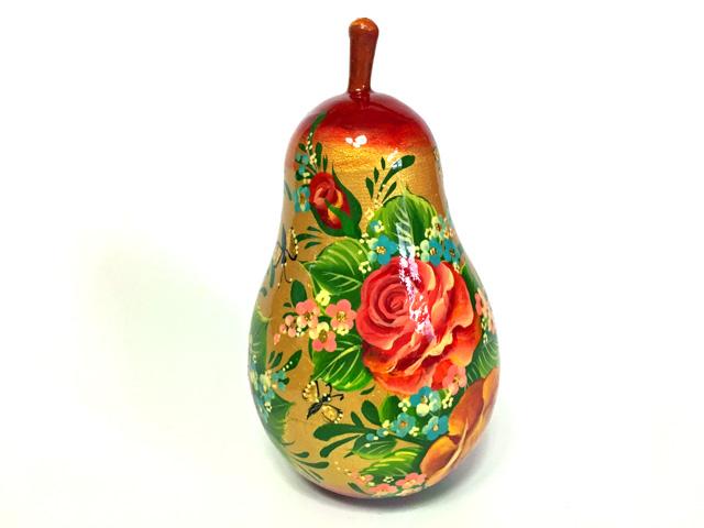 ラフランス☆Kuzmina★木製のリンゴ型の小箱