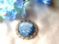 クルーズ(青)★フィニフチのブローチ☆ロシアのエナメル【ロシア雑貨のカチューシャ】