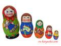 おもちゃと子供たち☆マトリョーシカ5ピース