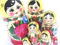 マーシャ☆セミョーノフ☆7ピースマトリョーシカ☆ロシア雑貨