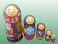 ロシアンティー☆Tドゥビニチさんのマトリョーシカ5P★ロシア雑貨