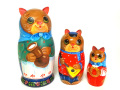 猫の集まり☆3ピースマトリョーシカ★Guseva☆グーセヴァ