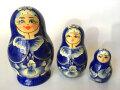 3姉妹★マトリョーシカ_3ピース☆キーロフマトリョーシカ★ロシア雑貨