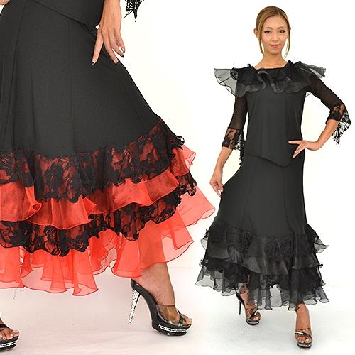社交ダンス衣装スカート商品番号0273