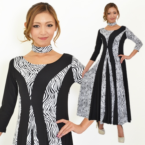 社交ダンス衣装モダンダンスドレス商品番号0038