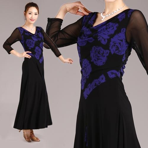 社交ダンス衣装モダンダンスドレス商品番号0015