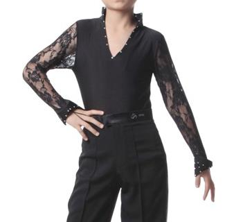 社交ダンス衣装メンズラテンシャツ商品番号0001
