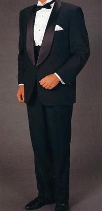 男性カラオケ衣装タキシード黒色4点セット商品番号0002