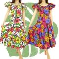 ハワイアン ダンス衣装ワンピース商品番号0022