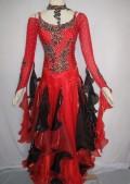 社交ダンス衣装オーダーメイド競技用デモドレス商品番号0062