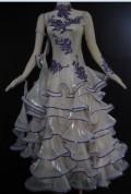 社交ダンス衣装オーダーメイド競技用デモドレス商品番号0058