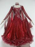 社交ダンス衣装オーダーメイド競技用デモドレス商品番号0052