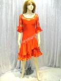 社交ダンス衣装ラテンダンスドレス商品番号0076