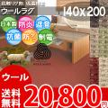 ■高級ウール100%♪防ダニ抗菌エコカーペット (ラグ140×200)ソフトな肌触りが魅力な絨毯●カラー全6色・日本製 アスメロディ2