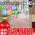 【送料無料】■AS カラーバリエーション豊富♪新毛ウール100%カーペット 江戸間長4.5畳(200x352)アドニス●全8色