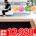 ■豊富なカラー12色 2畳 カーペット!エコカット抗菌防ダニじゅうたん 182x182(中京間2帖絨毯)