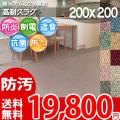 【送料無料】■AS カラーバリエーション豊富♪消臭抗菌エコカーペット(ラグ200×200) アスシャリオ2
