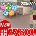 【送料無料】■AS カラーバリエーション豊富♪消臭抗菌エコカーペット(ラグ200×300) アスシャリオ2