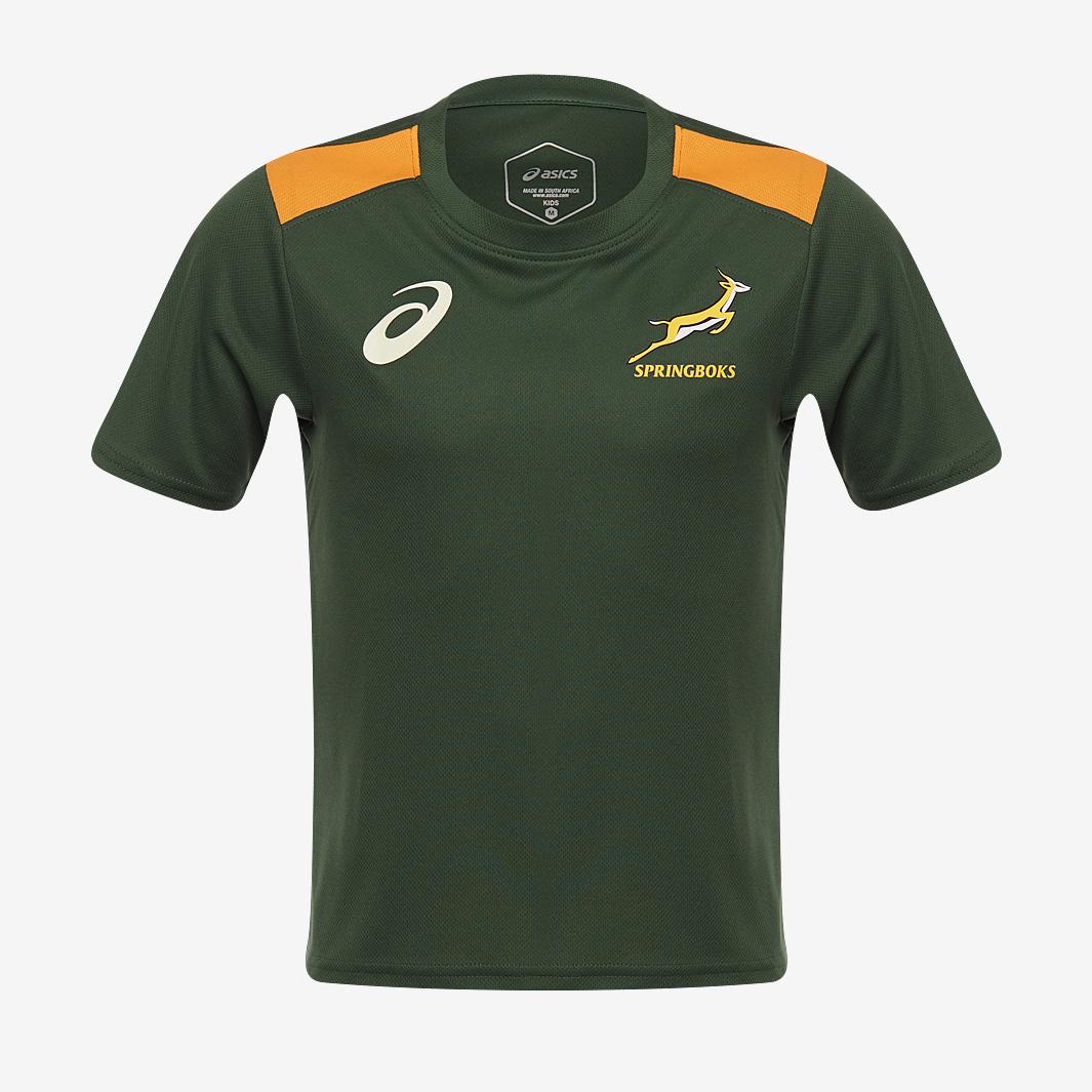 南アフリカ代表 スプリングボクス 2021 子供用  ホームファンTOP Tシャツ