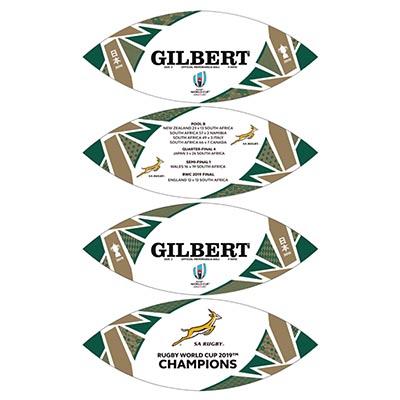ギルバート製 RWC2019 スプリングボクス チャンピオンズ記念ボール 5号球