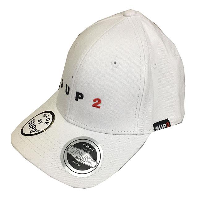 SUP2 Baseballキャップ スモールロゴ ホワイト