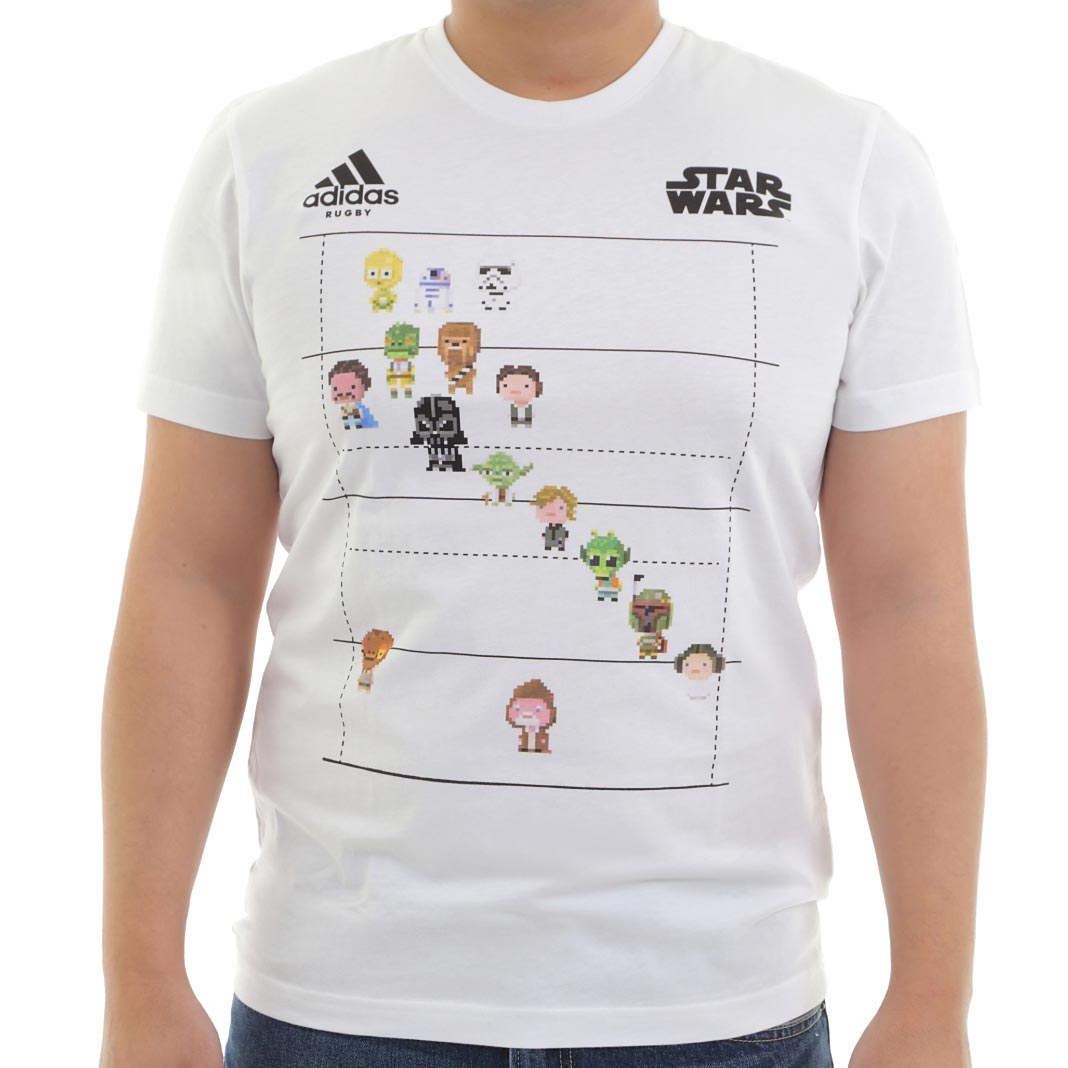 adidas Rugby STAR WARS 8BIT LINE UP Tシャツ