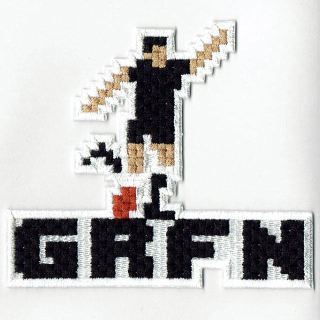 グリフィン GRFN 刺繍ステッカー キック