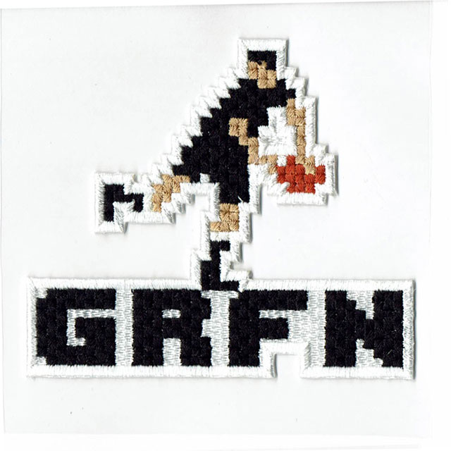 グリフィン GRFN 刺繍ステッカー パス
