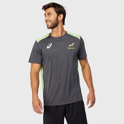 南アフリカ代表 スプリングボクス 2021 トレーニングTシャツ グラファイトグレー