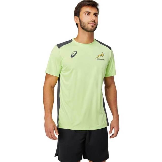 南アフリカ代表 スプリングボクス 2021 トレーニングTシャツ ライムグリーン