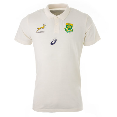 南アフリカ代表 スプリングボクス RWC2019 メディアポロシャツ クリーム【海外モデル】