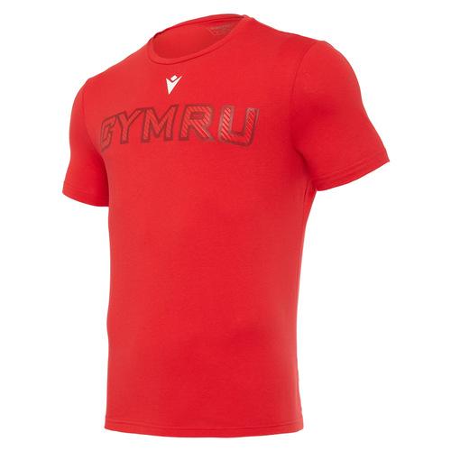 ウェールズ代表 20/21 トラベルコットンロゴTシャツ レッド