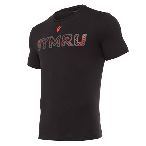 ウェールズ代表 20/21 トラベルコットンロゴTシャツ ブラック