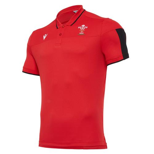 ウェールズ代表 20/21 トラベルポロシャツ レッド