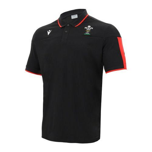 ウェールズ代表 20/21 トラベルポロシャツ ブラック