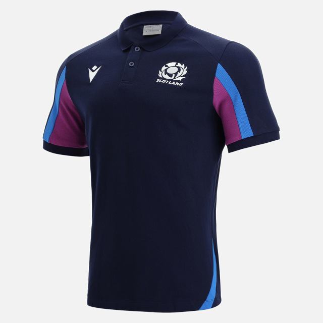 スコットランド代表 21/22 トラベルポロシャツ ネイビー