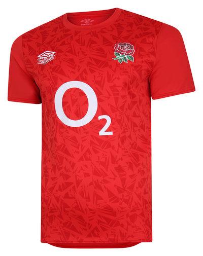 イングランド代表 20/21 Warm Up Tシャツ レッド