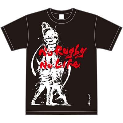 茂本ヒデキチxRugby 日本限定墨絵Tシャツ ラインアウト