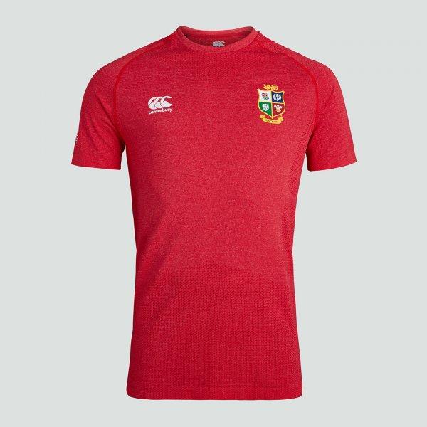 British & Irish Lions 2021 シームレストレーニングTシャツ レッド