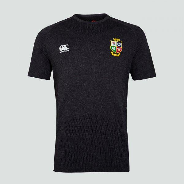 British & Irish Lions 2021 シームレストレーニングTシャツ ブラック