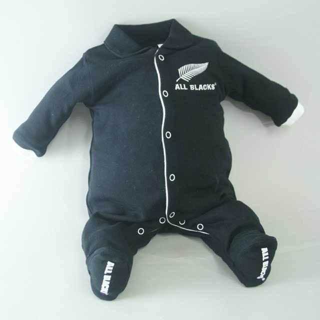 オールブラックス ロンパス 長袖(赤ちゃん用ウェア)