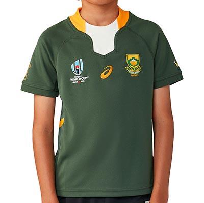 南アフリカ代表 スプリングボクス RWC2019 子供用 ホームTOPジャージ Kids